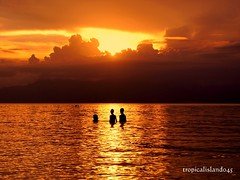 Asian Boys (tropicalisland045) Tags: boy sunset sea summer cloud boys evening asia southeastasia philippines tropical     beah settingsun skyclouds