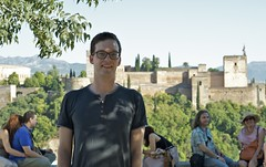 Vincent in front of Alhambra