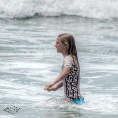Rash Guard in Profile (Kevin MG) Tags: ocean ca girls usa cute beach children fun sand young malibu teen zuma bikini zumabeach tonemapped