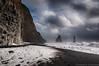 Reynisdrangar - Revisited (Kristinn R.) Tags: sea sky snow clouds blacksand iceland nikon reynisfjara reynisdrangar basaltcolumns d3x nikonphotography kristinnr
