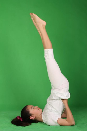 Grace daughter shoulder stand
