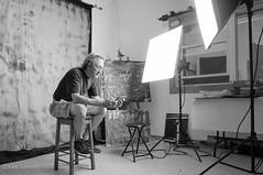 Une partie de mon atelier / Part of my studio (guysamsonphoto) Tags: bw selfportrait studio autoportrait noiretblanc atelier guysamson ipadmini sonynex6 sony1650oss