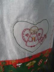Pano de prato detalhe (MELANCIA NO PALITO / Jacqueline Silva) Tags: mas canecas bules xcaras guardanapos fuxicos toalhadelavabo panosdepratos secamos batemos hxagonos