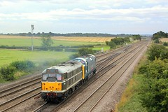 Deltic Drag: 31190   55019 - Colton Junction (96tommy) Tags: york old blue light summer white holiday green heritage station train drag photography coast photo flickr br diesel yorkshire main hill north transport traction engine rail railway junction class line september east transportation colton british locomotive 55 31 rare barrow livery mainline deltic ecml disel 2013 31190 55019 0z55