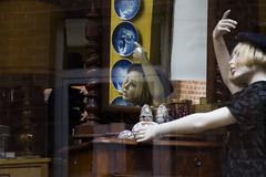 Dancing in the mirror... (Leo Popp) Tags: mirror dancing puppet spiegel schaufenster tanzen puppe