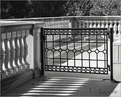 Of Shapes and Shadows (A Anderson Photography, over 1 million views) Tags: blackandwhite architecture canon mono balustrade touristsites nikcolorefexpro