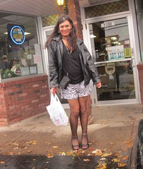 Julie at the deli (MarcieGurl) Tags: tv cd crossdressing tgirl tranny tgurl marciegurl marciegirl