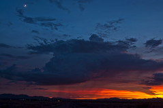 Rolling Along (Steven Maguire Photography) Tags: sunset arizona moon clouds skyscape monsoon cochisecounty