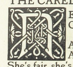 Image taken from page 76 of 'The Poems of Sir John Suckling. (Edited by John Gray and decorated by C. Ricketts.)' (The British Library) Tags: typography small knot illuminated letter celtic publicdomain lettern vol0 page76 date1896 bldigital mechanicalcurator pubplacelondon sysnum003537490 sucklingjohnsir imagesfrombook003537490 imagesfromvolume0035374900