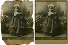 Family Restoration (caffeineandpixels) Tags: family sepia vintage restoration beforeandafter retouching