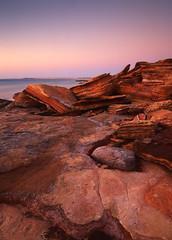 Gantheaume-Point-Sunset-Glow (Mark Wassell) Tags: ocean sunset water rock point landscape photography glow dusk indian australian australia textures western wa kimberley broome formations gantheaume