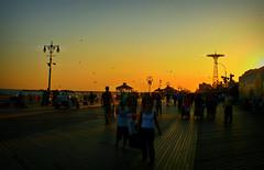 coney island summer (Robert S. Photography) Tags: nyc summer people colour beach birds brooklyn balloons coneyisland nikon streetlamps boardwalk