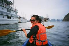 Doin Laps (joeball) Tags: cruise november color film 35mm canon islands bay fuji village floating vietnam limestone superia400 karst halong 2013 wp1