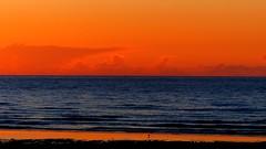 Sunset serenade (KerKaya) Tags: blue sunset red orange seascape reflection night clouds cloudy wave serenity serenade fz200 kerkaya