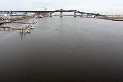 Pulaski Skyway and the Hackensack River (propaganda panda) Tags: bridge water newjersey jerseycity nj pulaskiskyway hackensackriver