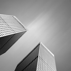 twins, 2010 (p r i m e r) Tags: blackandwhite monochrome architecture buildings losangeles
