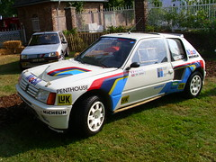 Peugeot 205 Turbo 16 EVO1 (Zappadong) Tags: auto classic car automobile michelle voiture days turbo coche classics oldtimer 16 schloss oldie peugeot mouton carshow rallye 205 youngtimer automobil dyck 2013 jchen oldtimertreffen evo1 zappadong
