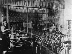 Interior of Osterstock's bicycle workshop, Glanville (paelocalhistory) Tags: industry glanville trade causeway bikeshop costerstock bicyclemaintenanceandrepair