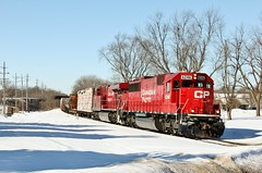 CP 6246 East in Genoa,Illinois on February 19,2014. (soo6000) Tags: railroad train illinois genoa cp freight emd 472 sd60 chicagosub 6246