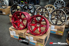"""VOLK Racing TE37SL 18x9.5 +22 Hyper Red • <a style=""""font-size:0.8em;"""" href=""""http://www.flickr.com/photos/64399356@N08/12914169574/"""" target=""""_blank"""">View on Flickr</a>"""