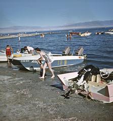 Salton Sea, California - 1962 (Brad Smith) Tags: california park coachellavalley 1962 sonnybono saltonsea newriver whitewaterriver riversidecounty imperialvalley imperialcounty belowsealevel desertshores georgemann saltonsearecreationarea alamoriver