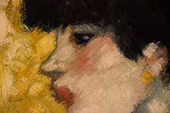 Detail - Girl in Profile (1901) (andryn2006) Tags: usa newyork art unitedstates metropolitanmuseumofart pablopicasso