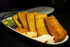 Corn Bread Bruschetta (sheryip) Tags: food bread corn yum grill delicious atomic morgantown bruschetta