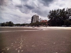 Beach Khao Tao (AdvehoVerus) Tags: sea beach water thailand sand asia traces palm huahin море пляж берег песок ilobsterit