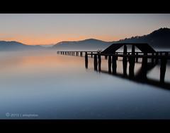 O n e W a y O u t O f T h i s M a z e (AnthonyGinmanPhotography) Tags: longexposure japan sunrise jetty naganoprefecture nojiri nojiriko lakenojiri