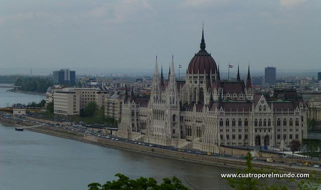 Realmente impresionante el edificio del parlamento húngaro