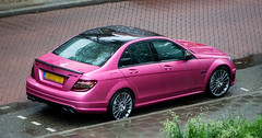 Mercedes C63 AMG matte pink (Olivier Blitzblum) Tags: pink mercedes matte amg c63