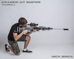 Titanfall Kraber-AP Sniper Rifle (Nick Brick) Tags: life gun lego scope rifle 11 piercing size armor sniper bolt material militia titan anti imc boltaction respawn kraber nickbrick titanfall kraberap