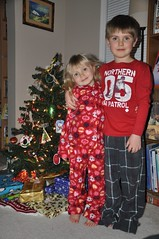 The kids in their new Xmas Eve p.j.'s