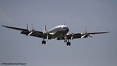 Lockheed Super Constellation in Nrnberg (Uwe Marquart) Tags: airplane dream nrnberg nue breitling spotten lockheedsuperconstellation hbrsc photoweltenuwemarquart kniginderlfte