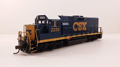 CSX - MATE (Road Slug) #2230 Dark Future Paint Scheme (Prototype Painted around April 2010) - Former GP35 (Conductors Front 3-4) - HO Scale - KATO kit-bash - July 29, 2015 - K. Crawley (dcmkris) Tags: atlas csx hoscale gp402 custompainted darkfuture roadslug mothermate