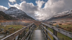 Follow the path....In Explore 1/3/2017 (Einir Wyn Leigh) Tags: landscape outdoor light colour sky beauty bridge ogwen snowdonia digital mountains passion love climate weather snow clouds blue winter gold stairs valley pond nature natur natural cymru uk britain