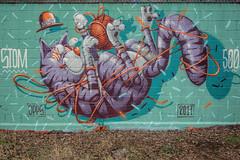Miaouuuuu ! (Stéphane LANDMANN) Tags: stom graffiti graff graffeur artiste streetart wall robots spray sprayart peinture peintre street art extérieur surréaliste jpp jpps stom500 chat cat zeisslens zeiss carlzeisslenses carlzeiss