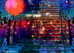 The Magic Room (brillianthues) Tags: stairs abstract mosaic colorful collage photography photmanuplation photoshop