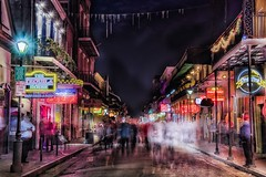 Down on Bourbon (Fab05) Tags: nola neworleans bourbonstreet neon street nightlife longexposure mardigras frenchquarter