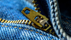 Blue Jeans - 5918 (www.karltonhuberphotography.com) Tags: 2017 brokenin casual closeup clothing comfy denim fabric favorites jeans karltonhuber macro metal pants pull selectivefocus soft stilllife stitching zipper zipperteeth
