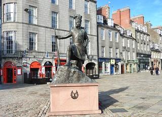 Gordon Highlanders Memorial Castlegate Aberdeen Scotland 2017