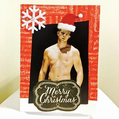 IMG_1659 (danimaniacs) Tags: christmas greeting seasons holiday card handcrafted handmade man guy sexy hot shirtless hunk russelltovey