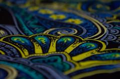 Cloth/Textile - Macro Mondays (Patricia Pinzan) Tags: macromondays clothtextile skirt macro mondays cloth textile blue yellow tecido textura azul amarelo saia nexf3 sony explore explorar color