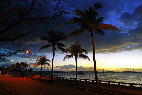 Cienfuegos at dusk. Marina Puerto