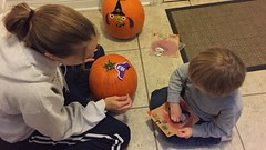 "Mommy and Paul Decorate Pumpkins • <a style=""font-size:0.8em;"" href=""http://www.flickr.com/photos/109120354@N07/32987046641/"" target=""_blank"">View on Flickr</a>"