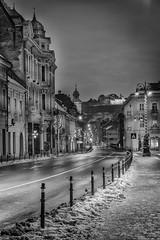 Brasov by night - bw1 (George Nutulescu) Tags: brasov city bw romania nikon town