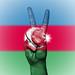 Peace Symbol with National Flag of Azerbaijan