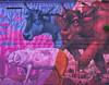 Tradición e modernidade (Adrián Nieto Rodríguez) Tags: red city color street travel car urban animals animal art pink wall spain cow modern violet graffiti colorful galicia santiago pig traditional de compostela tradition mural ox photography coruña pontepedriña cerdo vaca buey coche coches