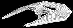 My TIE Striker is off to the Printers! (OrangeKNight) Tags: 3d printing modeling star wars tie striker concept art rogue one xwing miniatures game