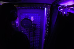 Thunder Bus (ThunderBusRecordingStudio) Tags: thunder bus recording studio solar powered joon wolfsberg oldtimer 1996 büssing yellow vocal microphone booth